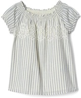 Gap Eyelet front stripe top