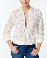 Amy Byer Juniors' Lace Bomber Jacket