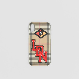 Burberry Logo Graphic Vintage Check iPhone X/XS Case