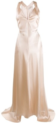 Philosophy di Lorenzo Serafini Flared Satin Gown