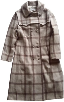 Givenchy Beige Wool Coat for Women Vintage