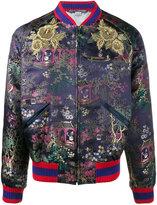 Gucci jacquard embroidered bomber jacket - men - Silk/Viscose - 50
