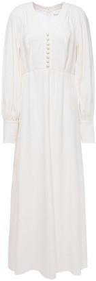 Zimmermann Gathered Crepe Maxi Dress