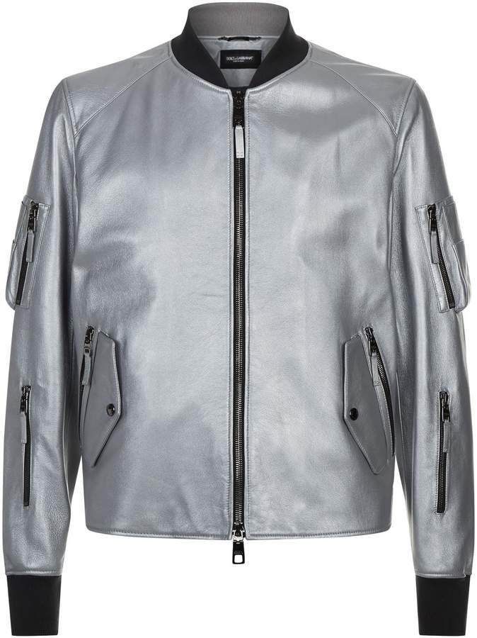 Dolce & Gabbana MetallicBlouson Jacket