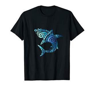 Retro Hawaiian Summer Tribal Sharks Men Women T Shirt