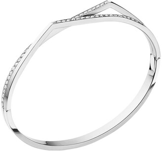 Repossi 18kt white gold Antifer diamond bangle