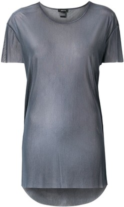 Avant Toi round-neck over tulle T-shirt