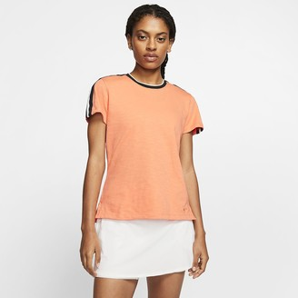 Nike Womens Short-Sleeve Golf Top Dri-FIT UV