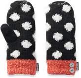 Muk Luks Women's Polka-Dot Plush Mittens
