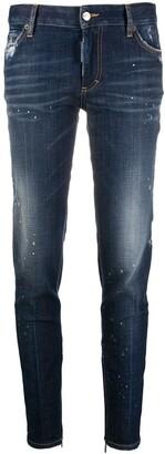 DSQUARED2 Paint Splatter Slim-Fit Jeans