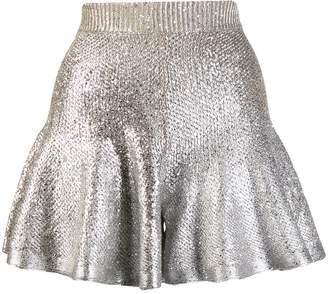 Alexander McQueen metallic knit shorts
