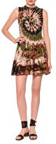 Valentino Sleeveless Tie-Dye Mini Dress, Brown/Green