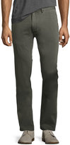 Faherty Chino Straight-Leg Beach Pants, Gray