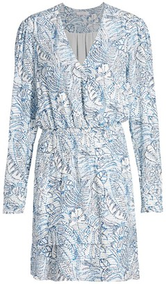 Parker Athens Botanical Print Silk Dress