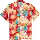 Urban Boundaries Island Collection Men's Short Sleeve Rayon Hawaiian Tropical Patterns Shirts