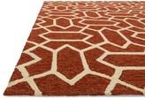 """Danko Handmade Hooked Rust/Ivory Indoor / Outdoor Area Rug Wrought Studio Rug Size: Rectangle 2'3"""" x 3'9"""""""