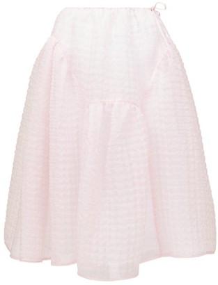 Cecilie Bahnsen Malika Tie-side Organza Midi Skirt - Pink