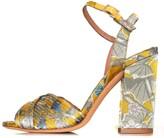 Tabitha Simmons Kali Bis Heel in Tropical Yellow Jacquard