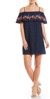 Blu Pepper Embroidered Lace Dress