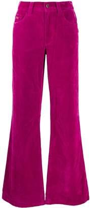 Marc Jacobs velveteen flared jeans