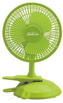 Sunbeam Cool MeTM 6-inch Table/Clip Convertible Fan- Macaw Green