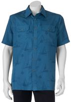 Croft & Barrow Men's Nautical Quick-Dry Outdoor Button-Down Shirt