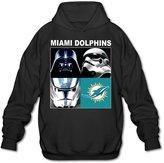 JIEN Women Men's Miami Dolphins Star Wars Main Characters Hoodie- L