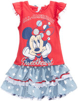 Disney Disney's® Minnie Mouse 2-Pc. Flutter-Sleeve Top & Skort Set, Toddler & Little Girls (2T-6X)