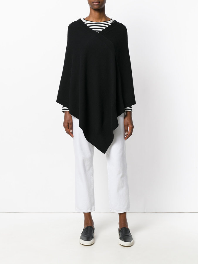 Tomas Maier cashmere knitted cape