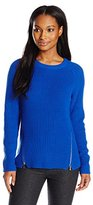Calvin Klein Women's Crew Neck with Side Zips