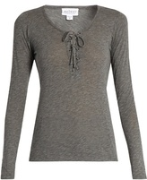 Velvet by Graham & Spencer Mandee lace-up long-sleeved top