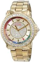 Juicy Couture Pedigree Women's Quartz Watch with Gold Dial Analogue Display and Yellow Gold Bracelet 1901228