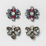 BaubleBar SUGARFIX by Crystal Stud Earring Set of Two - Light Pink