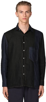 Loewe PATCHWORK CONSTRUCTION LINEN SHIRT