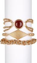 Steve Madden Red Stone Bracelet Set - Set of 3
