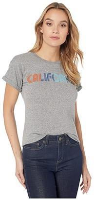 Original Retro Brand The California Rolled Mocktwist Short Sleeve Tee (Mocktwist Grey) Women's Clothing