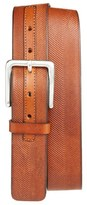 Tommy Bahama Men's Herringbone Embossed Leather Belt