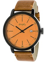 Simplify The 2500 Collection SIM2506 Men's Watch with Leather Strap