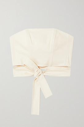 ARTCLUB Hera Cotton Wrap Top - White