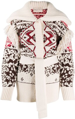Emilio Pucci Pre-Owned Geometric-Knit Cardigan
