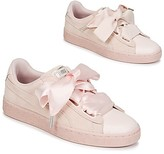 Puma SUEDE HEART BUBBLE W'S women's Shoes (Trainers) in Pink