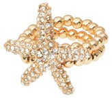 Journee Collection 1 7/8 CT. T.W. Round Cut CZ Pave Set Stretch Ring in Brass - Gold