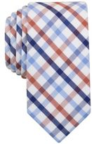 Bar III Men's Rust Multi-Color Check Slim Tie, Created for Macy's