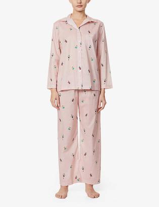 POUR LES FEMMES Ice Skaters cotton-poplin pyjama set