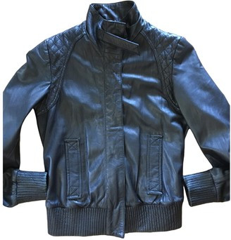 Drykorn Black Leather Leather Jacket for Women