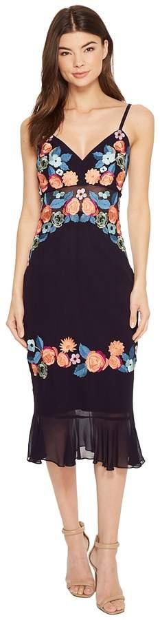 Nicole Miller Daydream Embellished Arturo Ruffle Dress Women's Dress