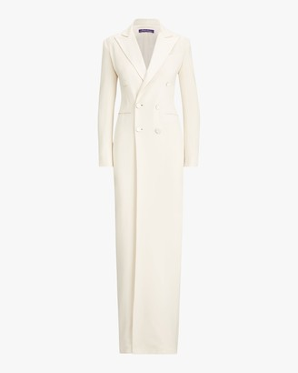 Ralph Lauren Kristian Evening Silk Tuxedo Dress