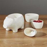 Crate & Barrel Pig Measuring Cups Set of Four