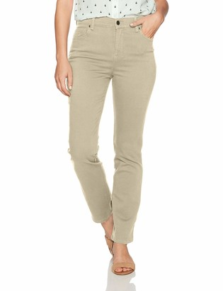 Gloria Vanderbilt Women's Petite Amanda Classic Tapered Jean Perfect Khaki 4P