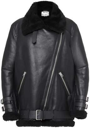 Acne Studios Velocite Oversized Shearling Jacket Size: 36